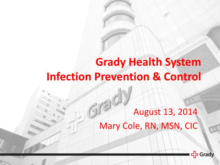 grady health system infection prevention control n.