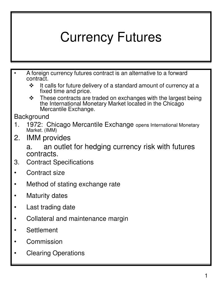 currency futures n.