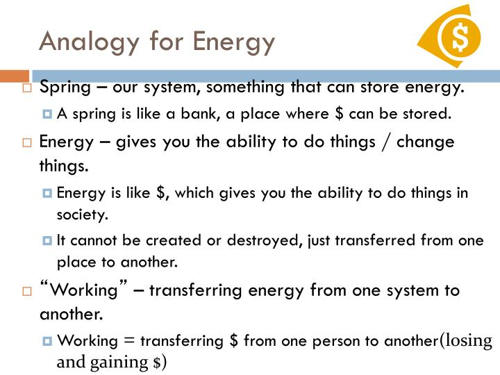 Analogy for Energy