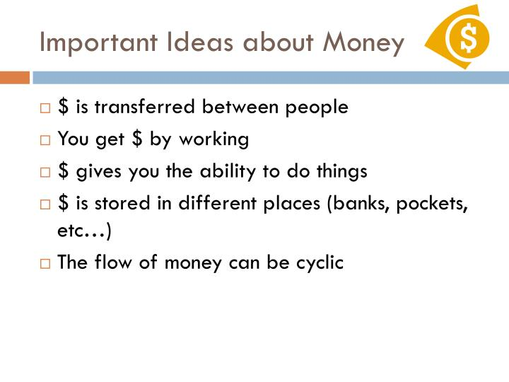Important Ideas about Money