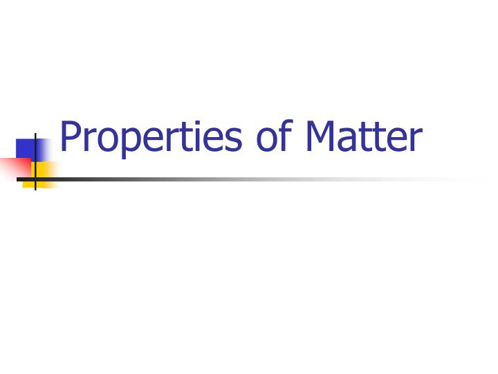 properties of matter n.