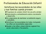 profesionales de educaci n infantil