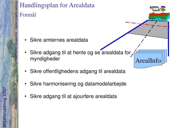 Handlingsplan for Arealdata