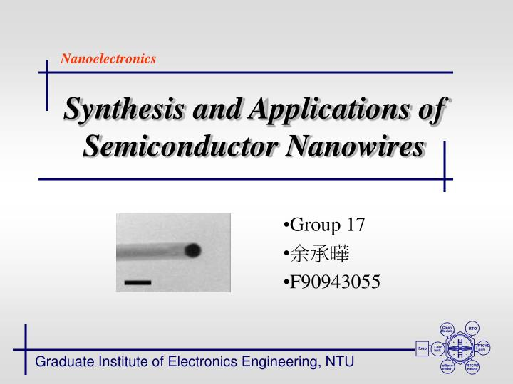 synthesis and applications of semiconductor nanowires n.