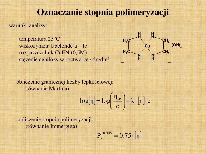Oznaczanie stopnia polimeryzacji