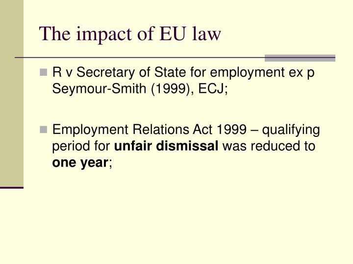 The impact of EU law