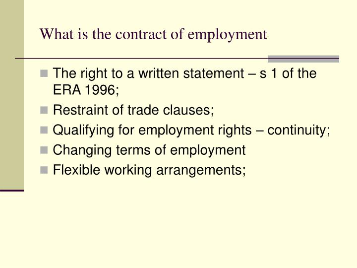 What is the contract of employment1