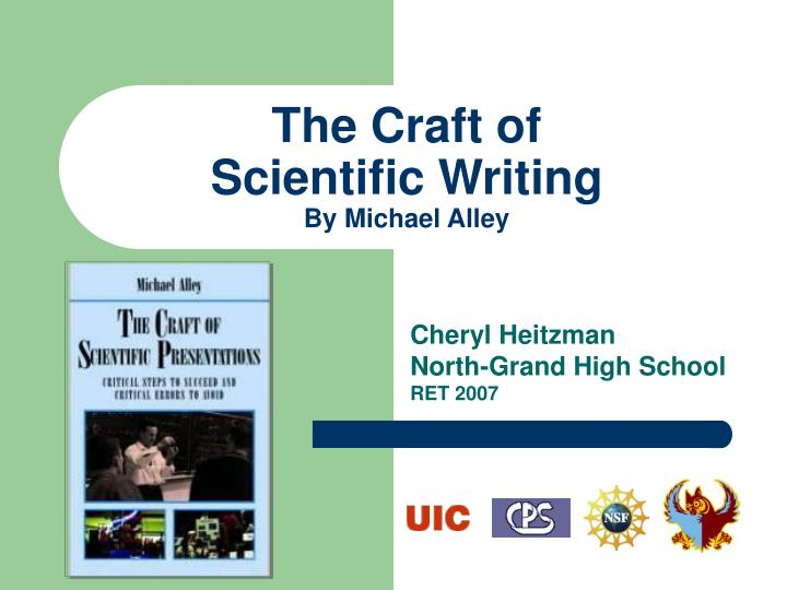 the craft of scientific writing by michael alley n.