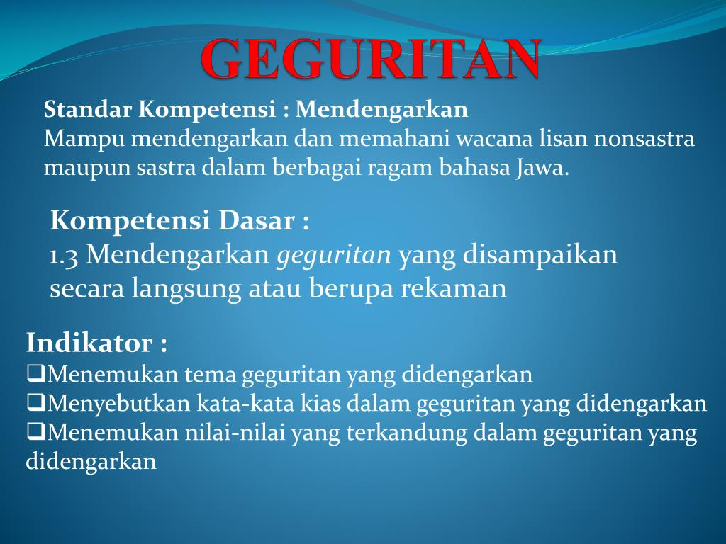 Ppt Geguritan Powerpoint Presentation Id 5798581