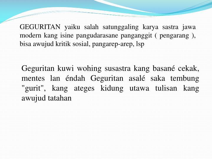 Ppt Geguritan Powerpoint Presentation Id 5798581