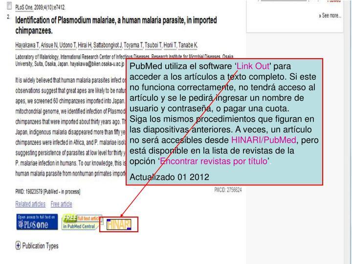 PubMed utiliza el software '