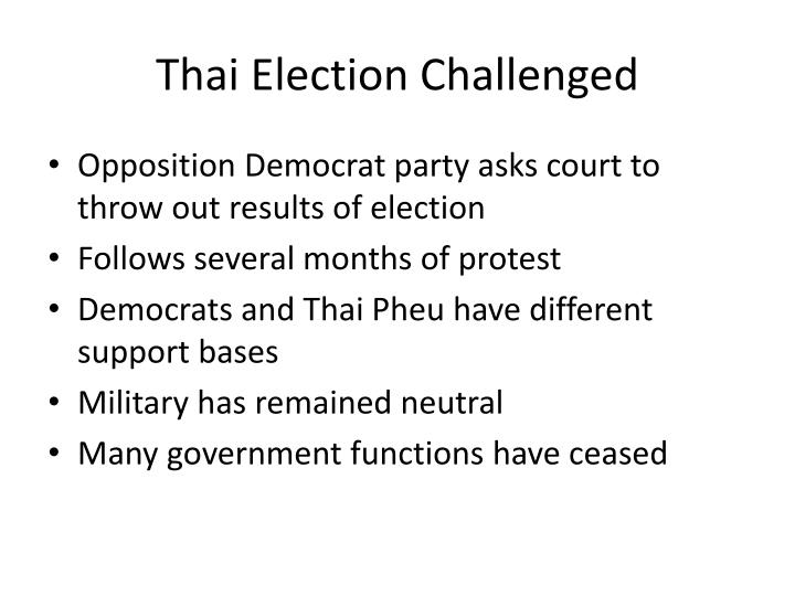 thai election challenged n.