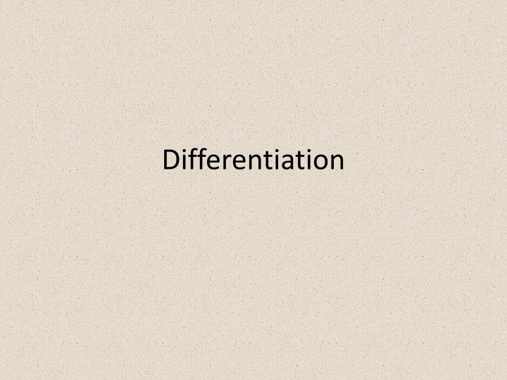 differentiation n.