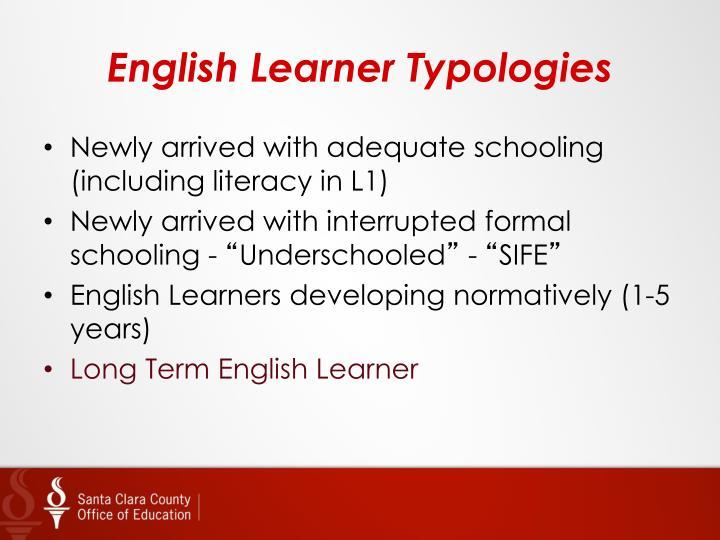 English learner typologies