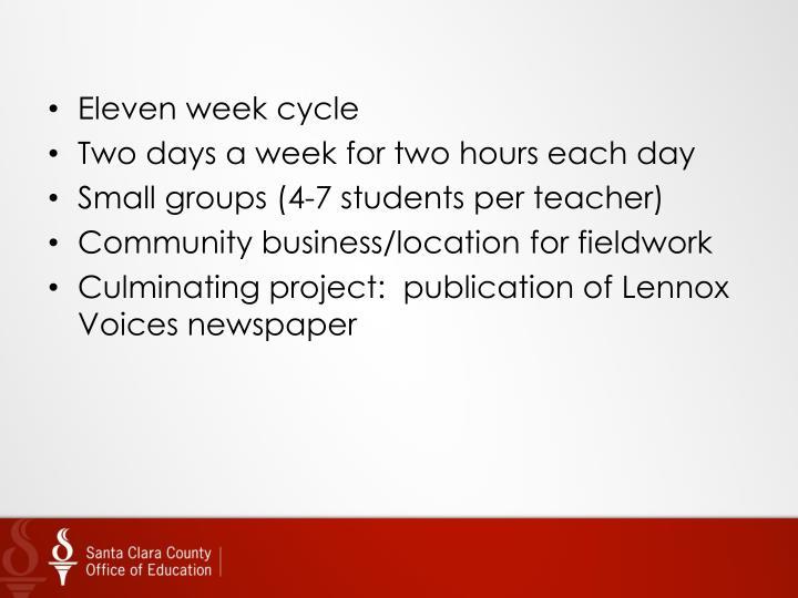 Eleven week cycle