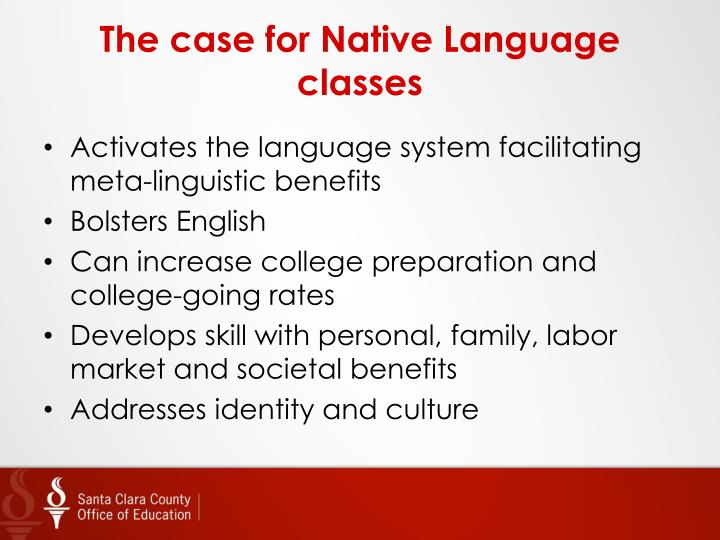 The case for Native Language classes
