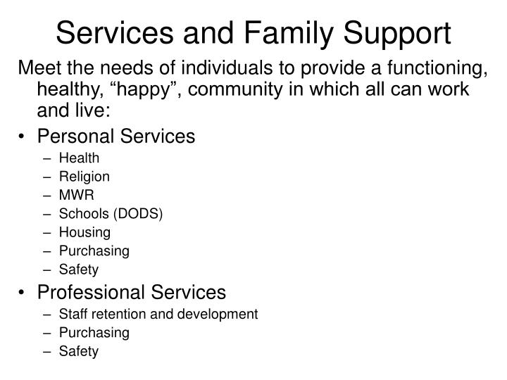 services and family support n.