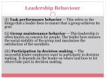 leadership behaviour
