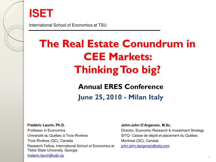 the real estate conundrum in cee markets thinking too big n.