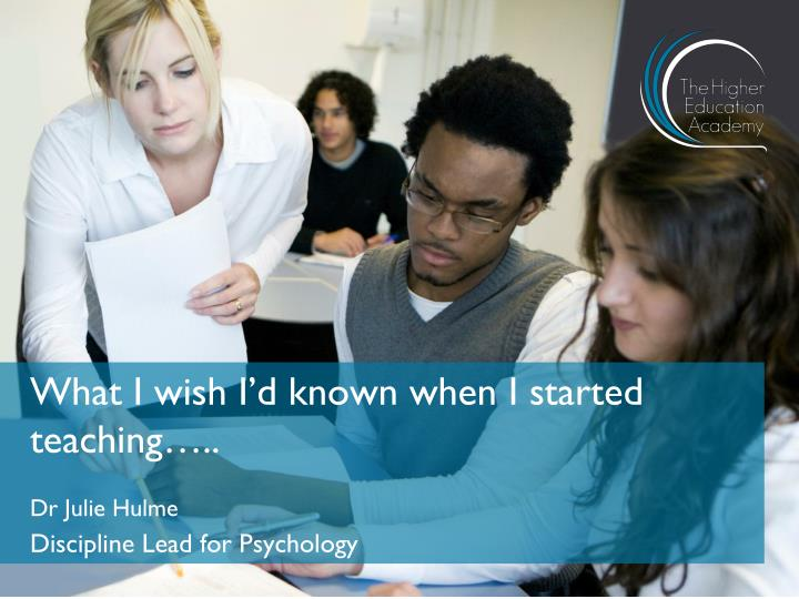 what i wish i d known when i started teaching n.