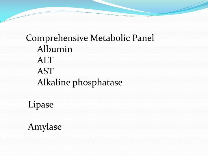 Comprehensive Metabolic Panel