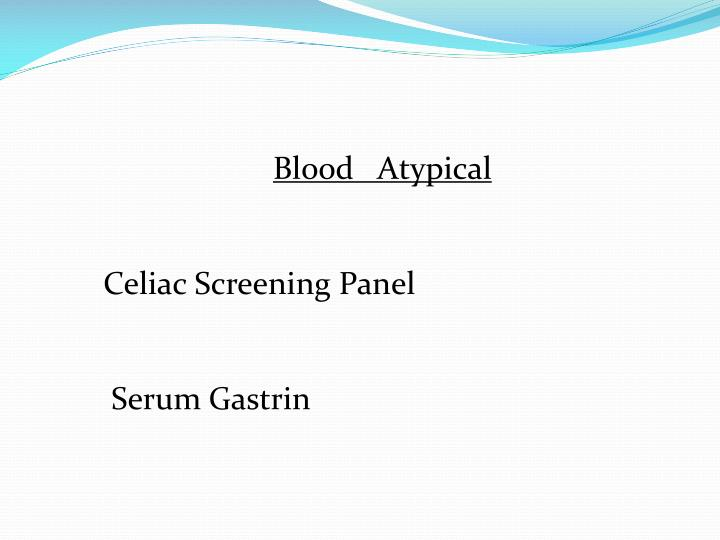 Blood   Atypical