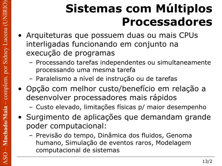 Sistemas com m ltiplos processadores