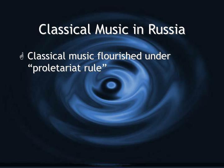 Classical music in russia