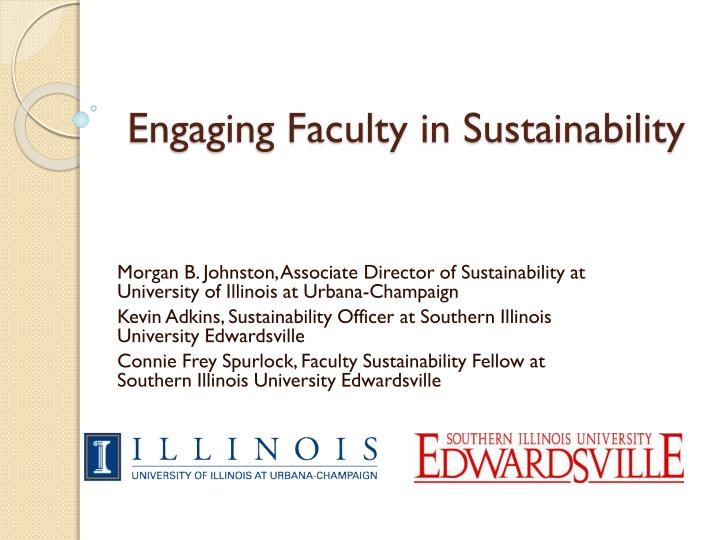 engaging faculty in sustainability n.