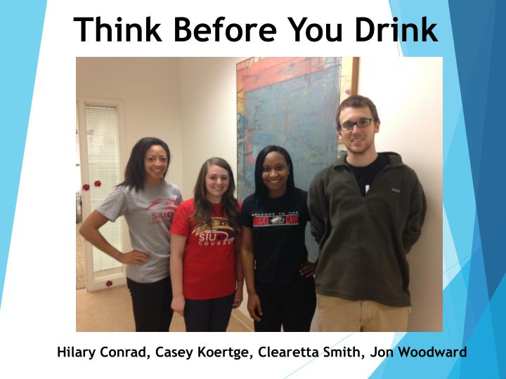 think before you drink n.