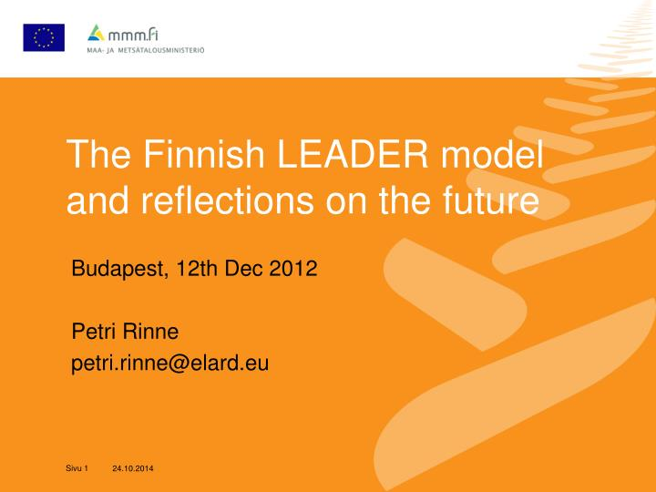 the finnish leader model and reflections on the future n.