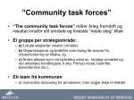 community task forces