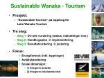 sustainable wanaka tourism