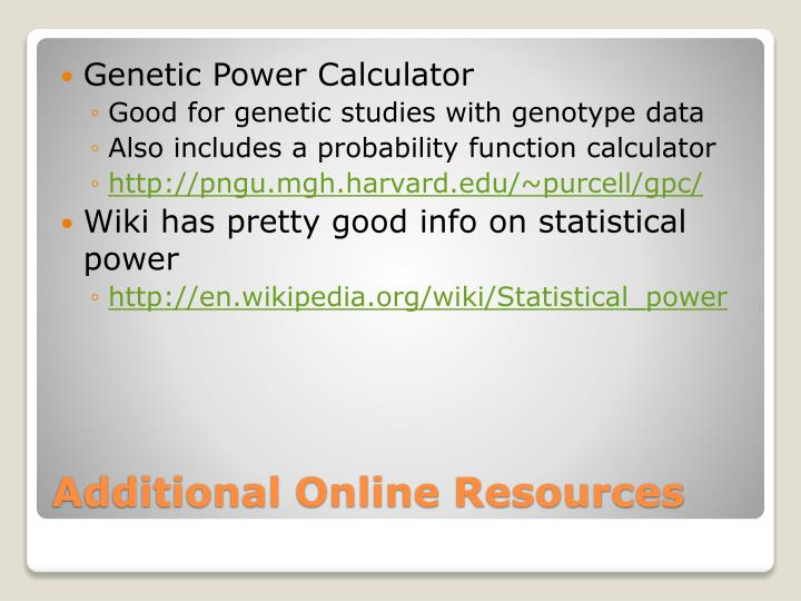 Genetic Power Calculator