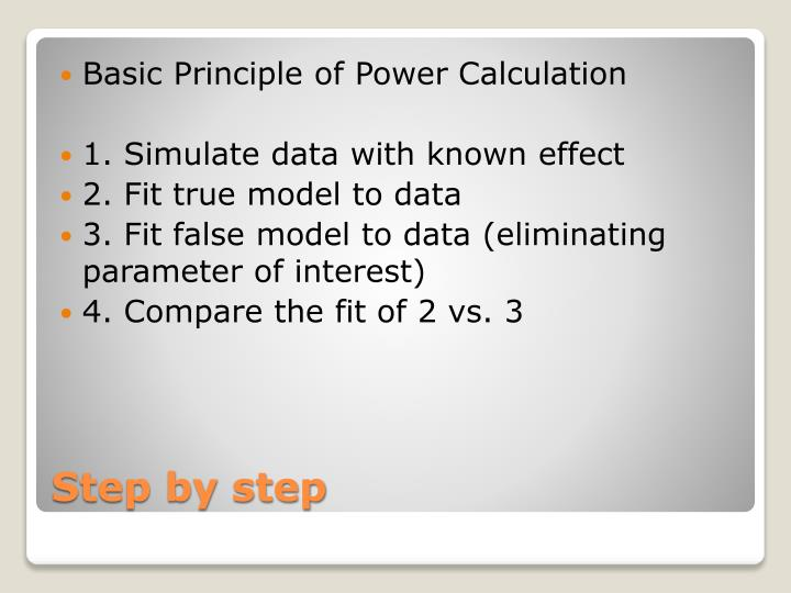 Basic Principle of Power