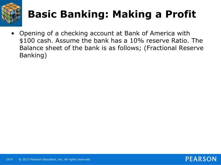 Basic Banking: Making a Profit