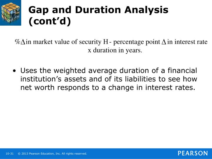 Gap and Duration Analysis (cont'd)