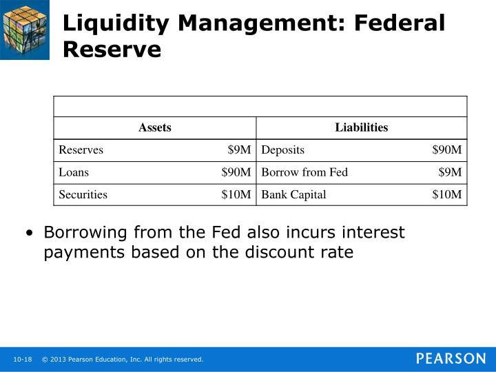 Liquidity Management: Federal Reserve