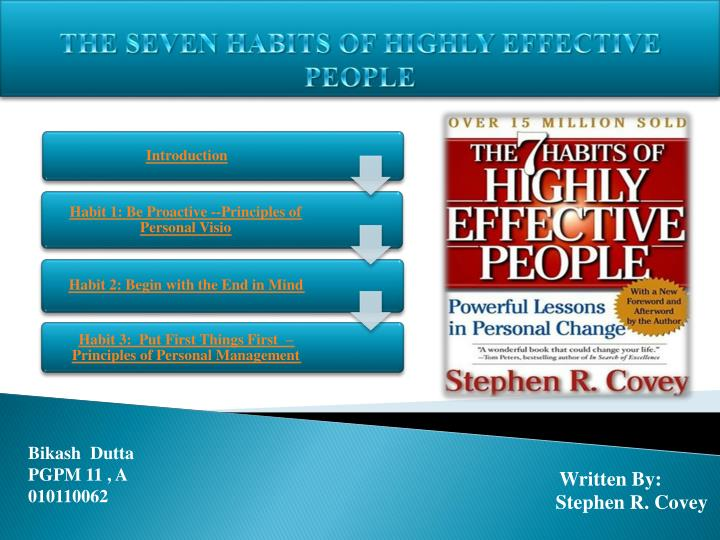 the seven habits of highly effective people n.