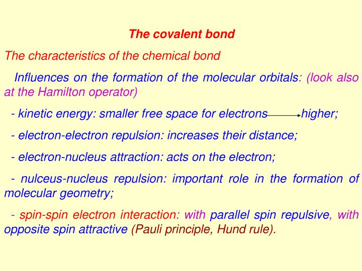 The covalent bond