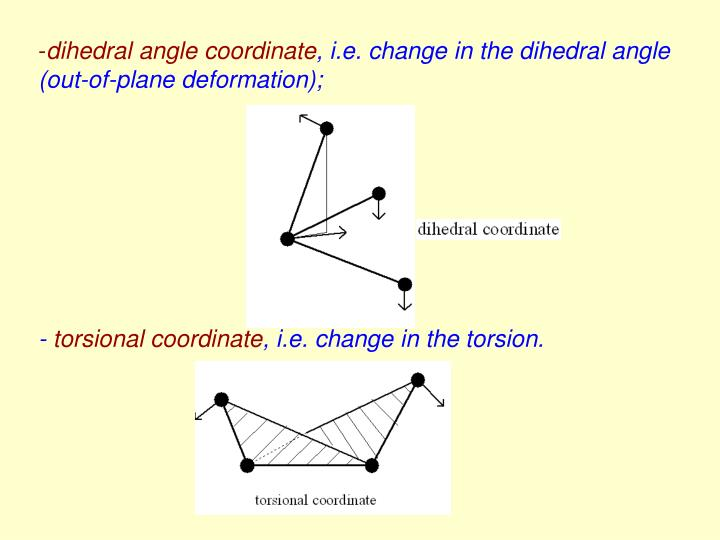 dihedral angle coordinate