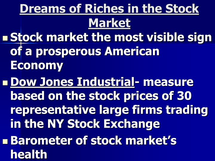 Dreams of Riches in the Stock Market