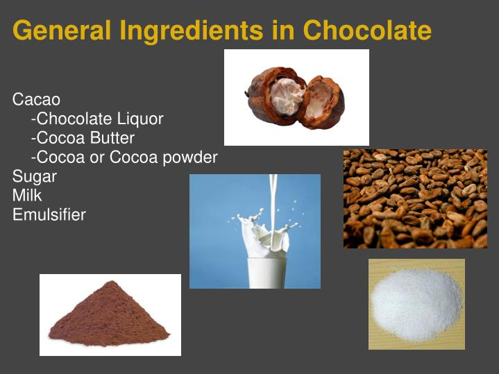 General Ingredients in Chocolate