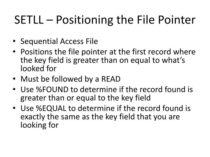 Setll positioning the file pointer