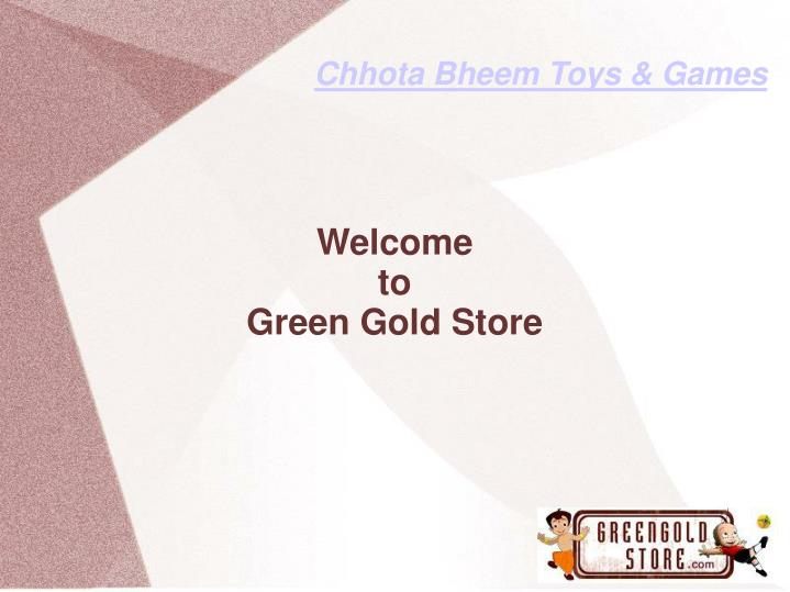 welcome to green gold store
