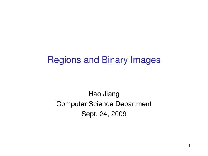 regions and binary images n.
