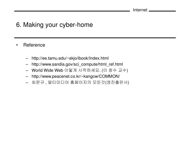 6 making your cyber home n.