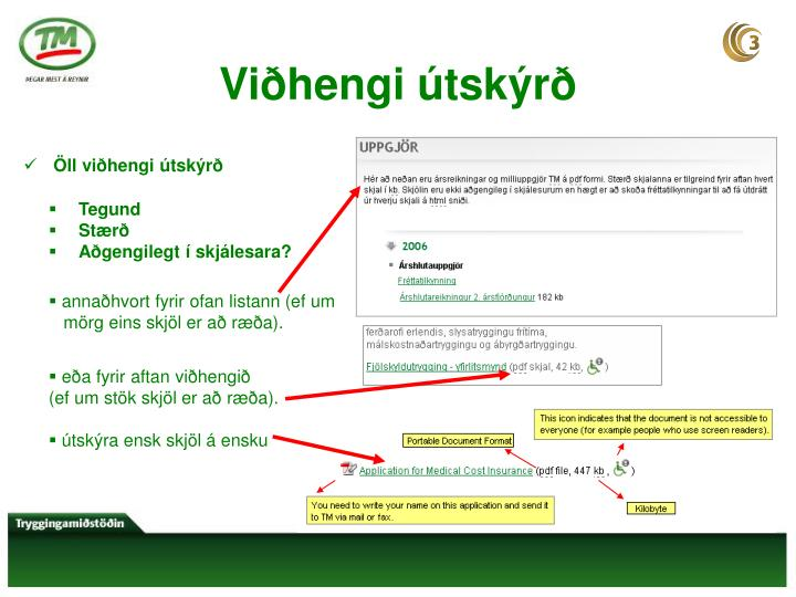 Viðhengi útskýrð