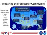 preparing the forecaster community
