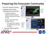 preparing the forecaster community1